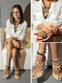 gorgeous heels, love everything else too! #fashion #style #pretty #shoes gorgeous heel, cloth, fashion styles, outfit, olivia palmero, olivia palermo, accessories, op style, de style