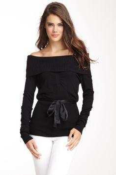 black cowl neck sweater <3