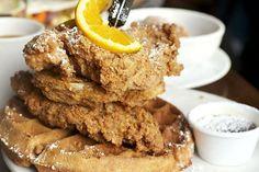 Chicken and Waffles at Screen Door (Portland, OR). #UniqueEats #friedchicken #waffles
