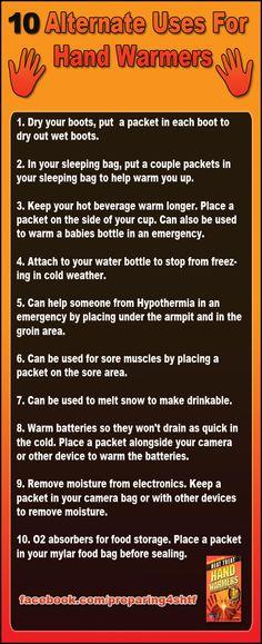 Ten alternate uses for hand warmers - Preparing For SHTF