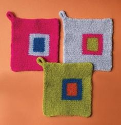 Felted Potholder. (Free crochet pattern.)