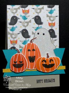 stampercamper.com - I just LOVE this Halloween set and you can get a FREE tutorial on making this and THREE more ADORABLE Halloween cards! Sets: Fall Fest, And Many More