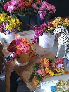 #decoratecolorfully flowers + zebras
