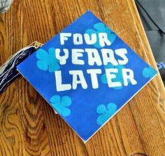 Best grad cap yet... @bekahh817 look!!!