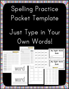 for  worksheets on own Elementary! Spelling create Great Ideas  sight my Teaching word   T Words, Pinterest