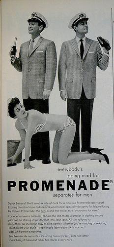 Promenade - Vintage Sexism #creepy #vintage #ad