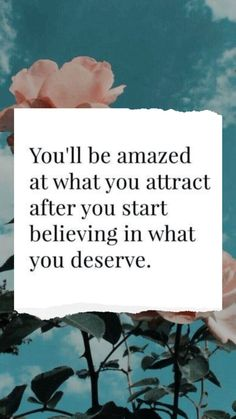 You'll be amazed at what you attract after you start believing in what you deserve #dailyinspiration #inspirationalquotes #inspiring #motivationalquotesforlife #lifequotes