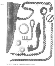 Knife sheath on chain from Viking age Gotland; By jesthorbjorn, via Flickr.