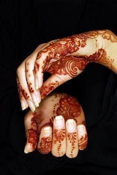 .Beautiful henna patterns.