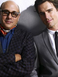 "Partners of a different world, Mozzie and Neil from ""White Collar""  Mozzie's so funny :D"