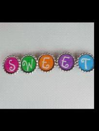 'SWEET'  Bottle Cap Magnets