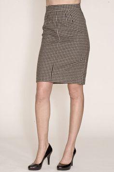 doris houndstooth pencil skirt / corey lynn calter