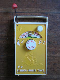 "1960s Fisher Price ""radio""!"