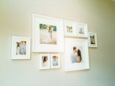 clean and simple wall gallery