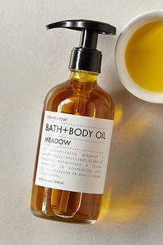 #FIGandYARROW Meadow #Bath and Body Oil // #lavender #rose #marigold #chamomile #comfrey #hemp seed #grapeseed + more // #anthrofave @figandyarrow