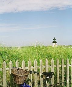 summer love. picket fences, beach cruisers, new england summer, bike rides, bicycl, sea, lighthous, place, cape cod