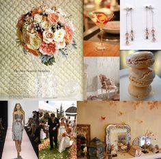 peach gray wedding theme