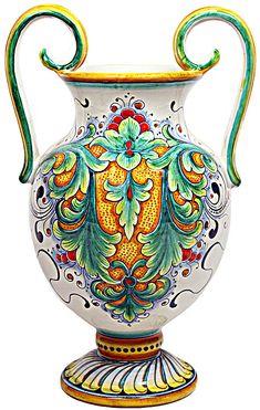 Deruta Italian Ceramic Vase