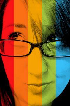 rainbow portrait by swelldesigner