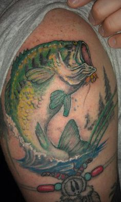 Fish tattoos on pinterest 74 pins for Hunting and fishing tattoos