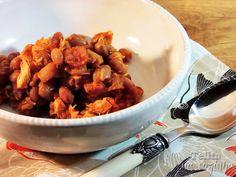 Telita na Cozinha: baked beans com cerveja e frango