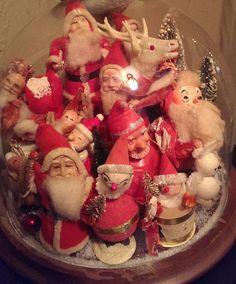 Vintage santa under glass