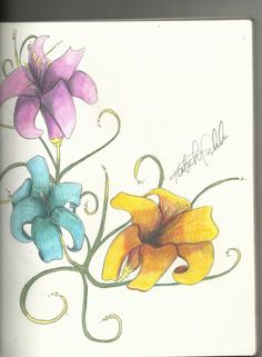 colored pencil flowers colored pencil flower, color pencil, colored pencils