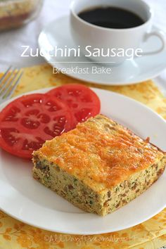 Low Carb Zucchini Sausage Egg Casserole Recipe | All Day I Dream About Food