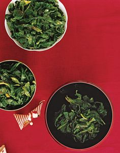 Wilted Spinach with Nutmeg Butter from Epicurious.com #myplate #vegetables
