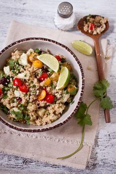 Quinoa Salad with Ricotta & Garam Masala Dressing #Salad #Quinoa #Garam_Masala #Ricotta