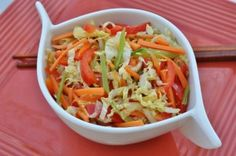 SPICY CARROT SLAW WITH GRAPES-1/3 cup OJ concentrate, 2 tps fresh lime juice,1 sm jalapeno seeded and minced, ½ tsp salt, 3 lg julienned carrots, 2 cups green, red, and/or black seedless grapes, halved, 1½ cups jicama peeled and julienned, ½ cup chopped cilantro, ½ cup salted peanuts coarsely chopped, Whisk orange & lime juice, chile & salt. In a separate serving bowl, combine, carrots, grapes, jicama, cilantro and peanuts. Pour dressing over salad & toss. Refrigerated. Makes 8 servings.