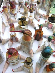 Army of glass birds. Really creative!