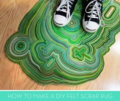 How To: Make a Stunning DIY Rug from Felt Scraps! » Curbly | DIY Design Community