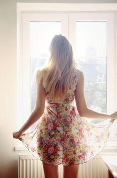 summer dresses, cloth, flower dresses, floral summer, charm style, blond, beauti, light, floral dresses