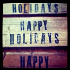 Rustic holiday sign