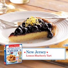 50 States in 50 Days:  New Jersey :: Lemon Blueberry Tart from Taste of Home    Find regional Northeastern recipes like this one and more in our new cookbook, Recipes Across America---->  http://www.tasteofhome.com/rd.asp?id=22997