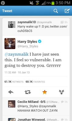 """For some reason my first thought when I read Harry's was """"aww he's so awkwardly cute"""""""