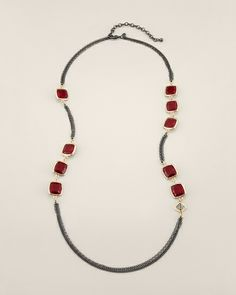 Chico's Clover Necklace #Red #Love #Chicos