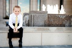 Adorable Baptism Pictures. Loved the Temple Location.