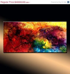 Abstract Painting  Original Abstract painting by newwaveartgallery, $3600.00