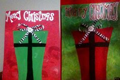 christmas paintings @Courtney Wilkerson