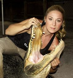 "Ashley On Gator Boys | Meet Ashley & Chris from Animal Planet's, Gator Boys."" They ..."