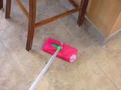 homemade swiffer pad - use a sock!  solution for wet swiffer:  vinegar, h2O , and 2 drops dish soap