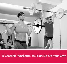 5 CrossFit workouts you can do on your own - that will kick your butt! #wod #crossfit #fran
