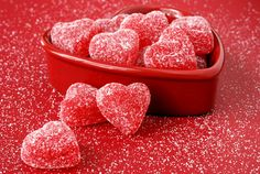 candi heart, sweet, red, valentine day, heart cookies, color, candies, wallpapers, jelly
