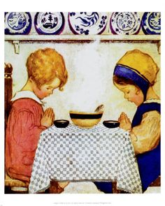 "Illustration by Jessie Willcox Smith- ""We Give Thanks"""