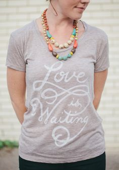 Love Is Waiting women's t-shirt... supports adoption! 20% of profits this week go to our adoption, and a new family is featured each week!