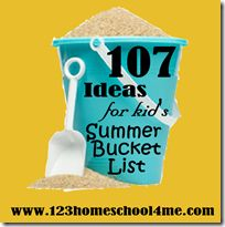 Start planning for summer with 107 Must do Kids Activities for Summer!   Includes {free} printable for planning your summer bucket list. You can also share your summer fun for a chance to win Amazon Giftcard!!