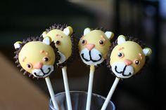 Lion Cake Pops by Sweet Lauren Cakes, via Flickr