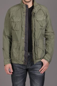 Jacket W/ Cargo Pockets And Hideable Hood